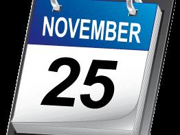 Mercoledì 25 novembre